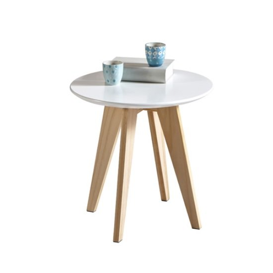 Camara Wooden Coffee Table Round In White
