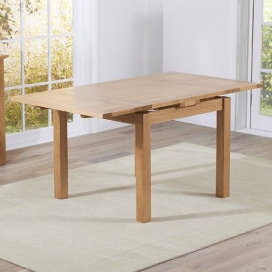 Cambroad Extending Small Wooden Dining Table In Oak