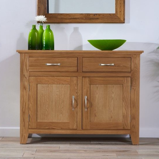 Cambroad Wooden Sideboard In Oak With 2 Doors And 2 Drawers