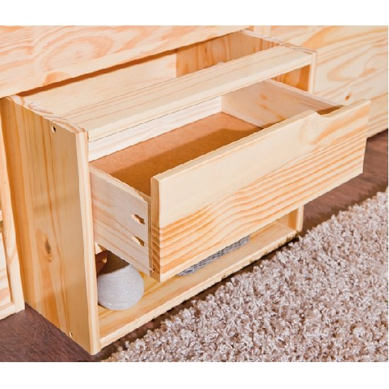 Camden Storage Bed In Natural With 2 Drawers And Pullout Cabinet_3