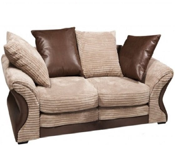 Read more about Camden fabric sofa suite 3 and 2 seater beige and brown