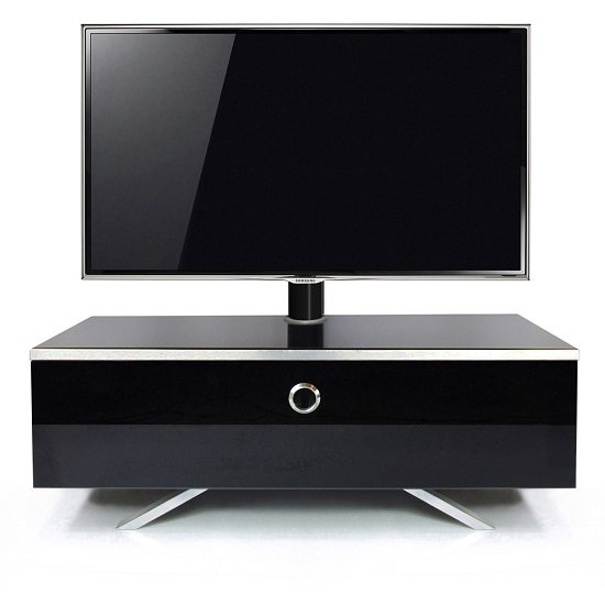 Cameo Hybrid Cantilever LCD TV Stand In High Gloss Black