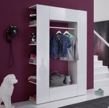 Cameron Hallway Stand In White With High Gloss Front And 2 Doors