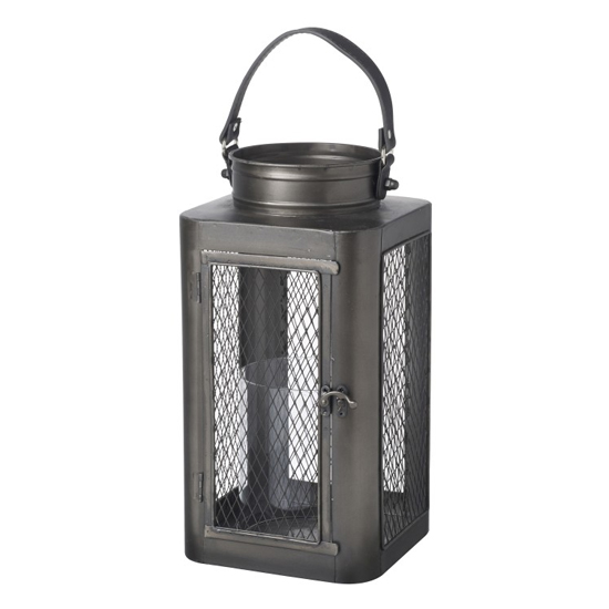 Campden Small Metal Lantern In Bronze