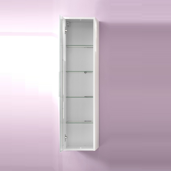 Campus Wall Mounted Bathroom Cabinet In High Gloss Fronts