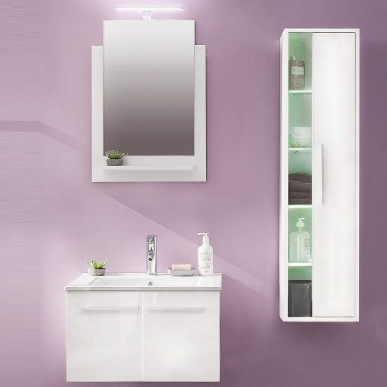 Campus Bathroom Set 2 In White With Gloss Fronts And LED_2
