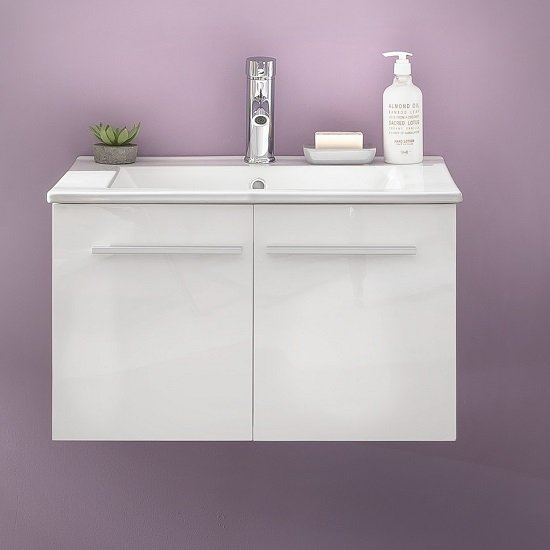 Read more about Campus vanity cabinet in high gloss fronts with washbasin