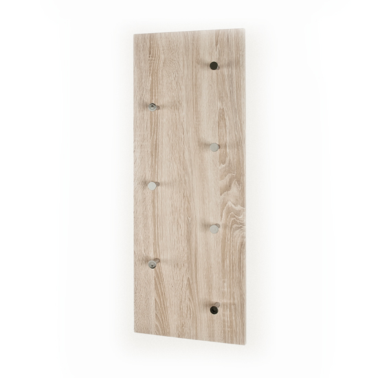 Modern Wall Mounted Coat Rack In Canadian Oak