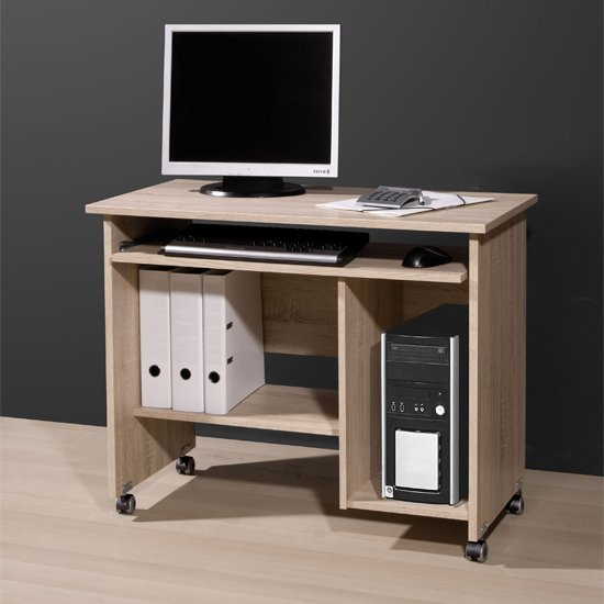Small Office Computer Desk In Canadian Oak 18662 Furniture