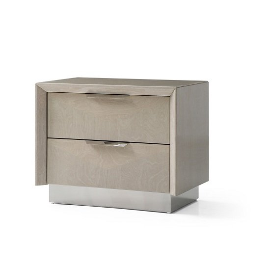 Canaria Bedside Cabinet In Cream Walnut High Gloss_1