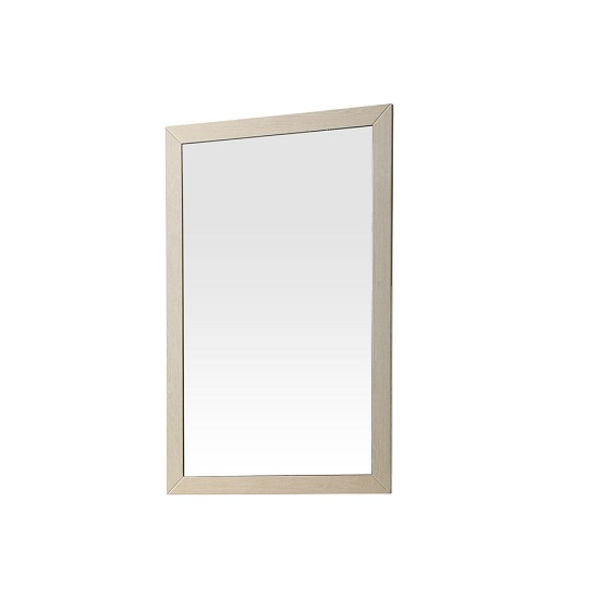 Canaria Bedroom Wall Mirror In Cream Walnut High Gloss