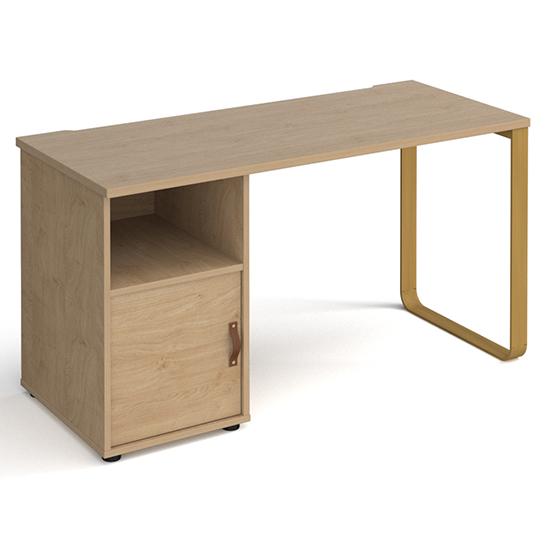 View Canary wooden computer desk in kendal oak with kendal oak door