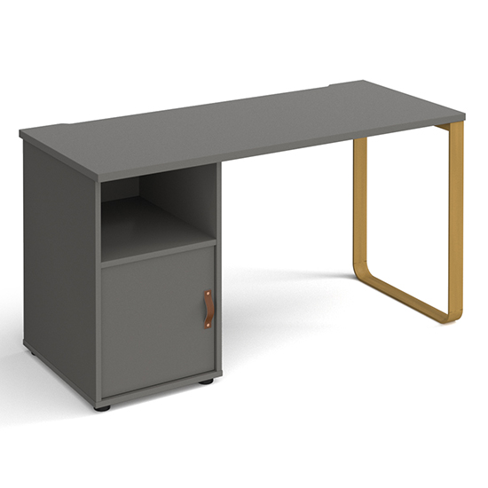 Canary Wooden Computer Desk In Onyx Grey With Onyx Grey Door_1