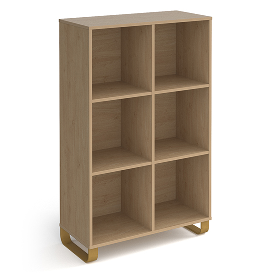 Canary High Wooden Shelving Unit In Kendal Oak And 6 Shelves