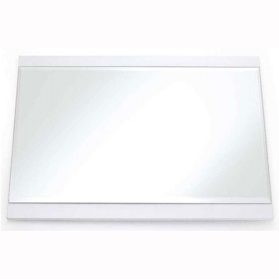 Canberra Rectangular Wall Mirror Large In White High Gloss