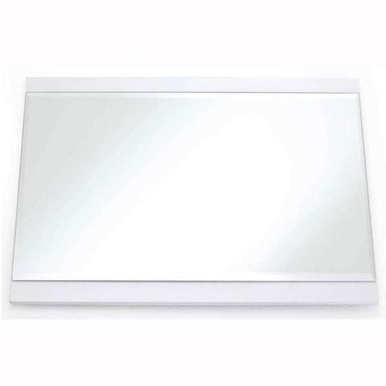 Large Rectangular Wall Mirror canberra rectangular wall mirror large in white high gloss