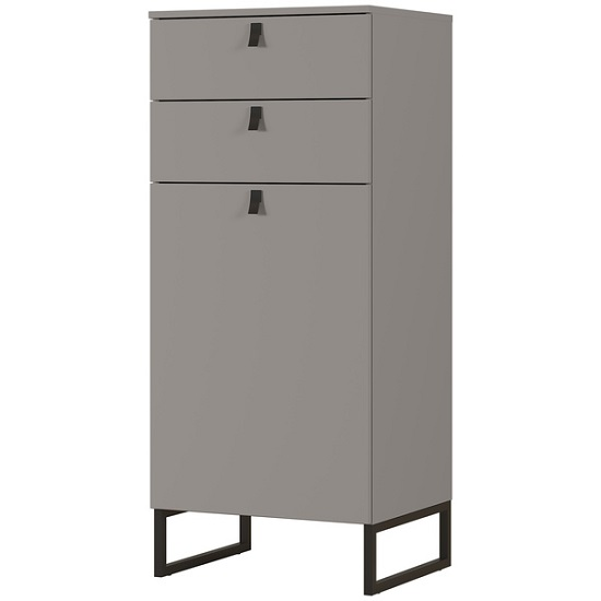 Cancun Narrow Shoe Storage Cabinet In Stone Grey Finish