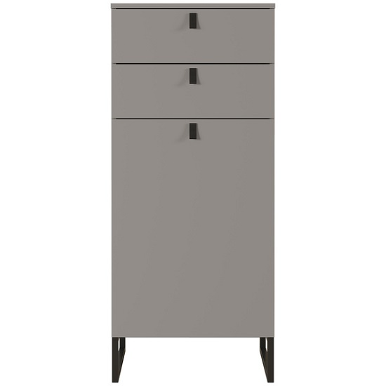 Cancun Narrow Shoe Storage Cabinet In Stone Grey Finish_3