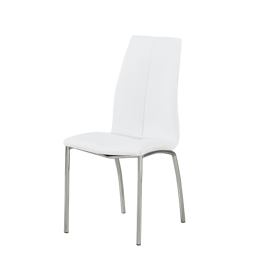 Candice Dining Table In Grey Gloss With 6 White Opal Chairs_3