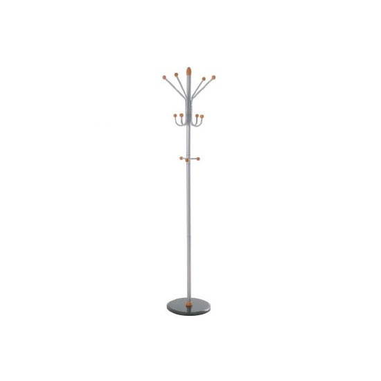 Candy Coat And Hat Stand In Aluminium and Cherry Finish