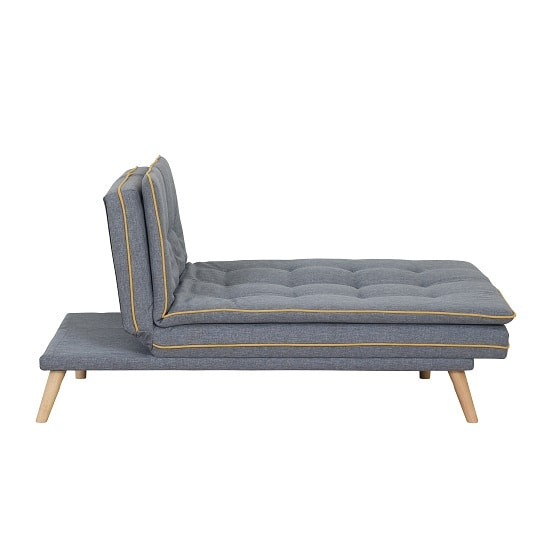 Candy Contemporary Sofa Bed In Grey Fabric With Wooden Legs_2