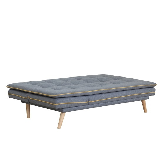 Candy Contemporary Sofa Bed In Grey Fabric With Wooden Legs_5