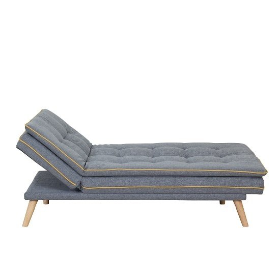 Candy Contemporary Sofa Bed In Grey Fabric With Wooden Legs_6