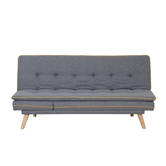Candy Contemporary Sofa Bed In Grey Fabric With Wooden Legs_7