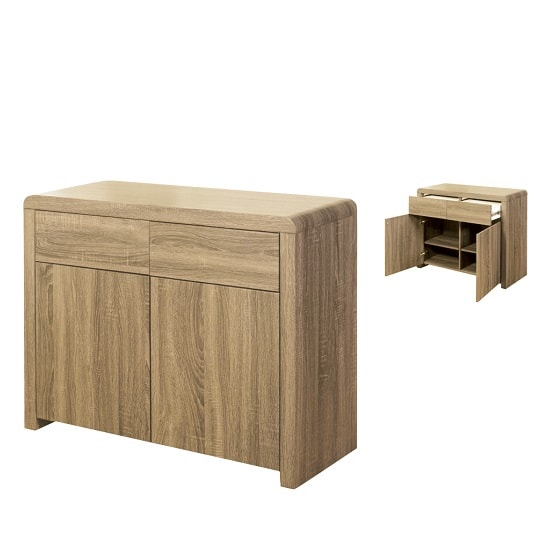 Cannock Sideboard In Havana Oak With 2 Doors And 2 Drawers