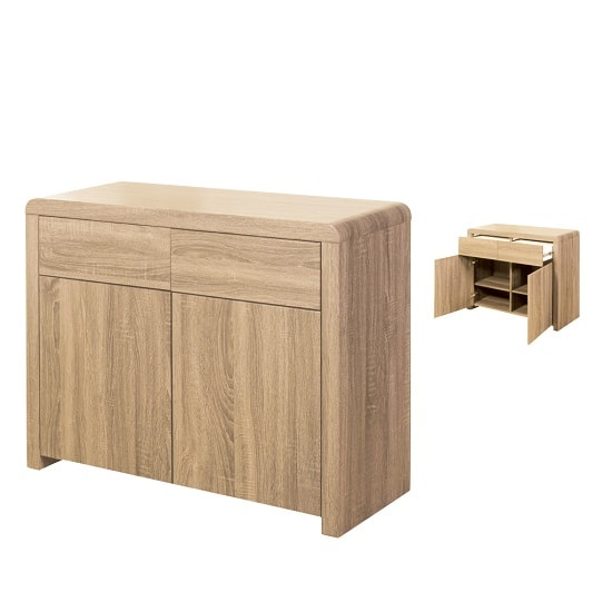 Cannock Wooden Sideboard In Sonoma Oak With 2 Doors