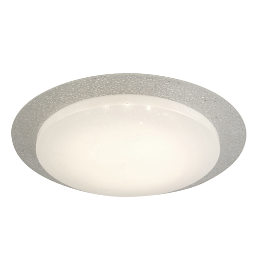 Canopus LED 36cm Flush Ceiling Light With Glass Halo Ring