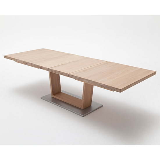 Cantania Extending Rectangular Dining Table In Bianco Oak