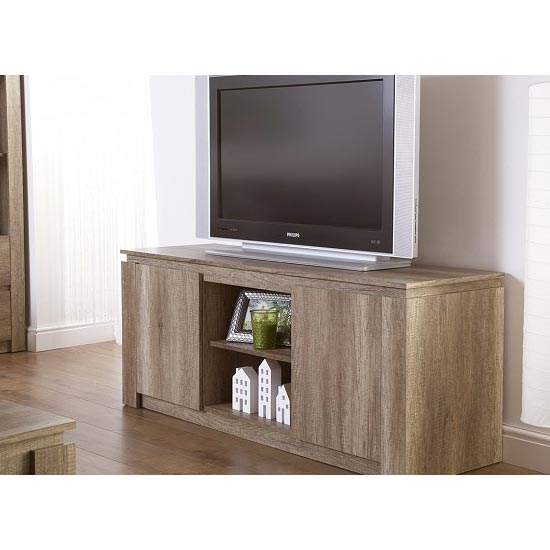Canyon Wooden TV Unit In Oak With 2 Doors