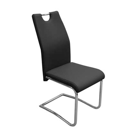 Capella Faux Leather Dining Chair In Black