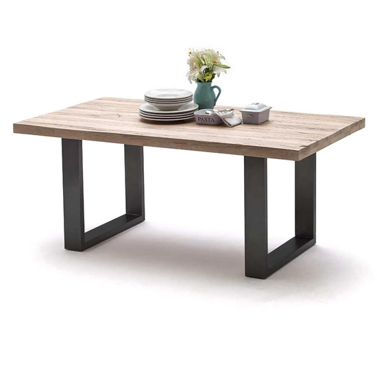 Capello 180cm Limed Oak Dining Table And Anthracite Legs