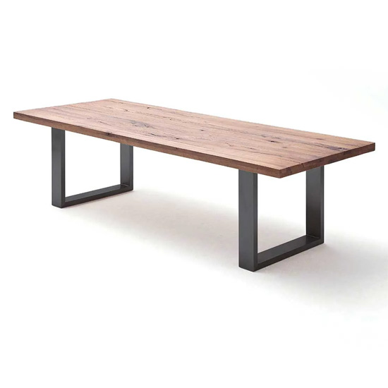 Capello 200cm Bassano Oak Dining Table And Anthracite Legs