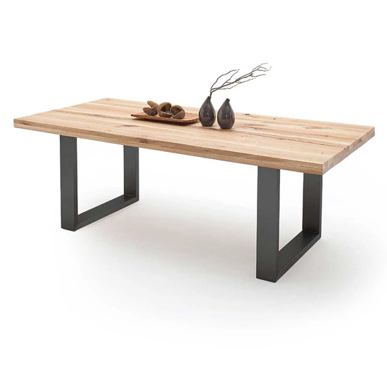 Capello 200cm Wild Oak Dining Table And Anthracite Legs