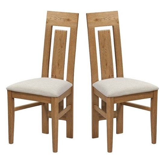 Capre Wooden Dining Chairs In Rustic Oak In A Pair