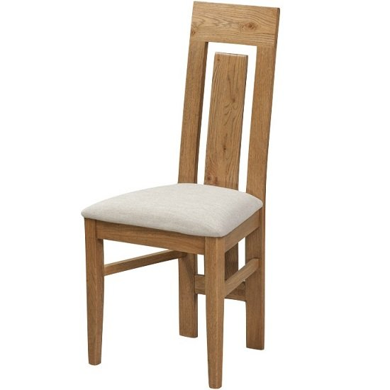 Capre Wooden Dining Chairs In Rustic Oak Finish