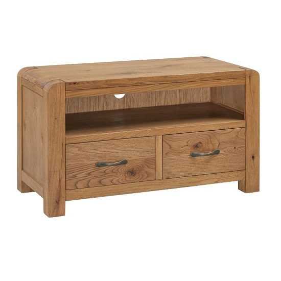 Capre Wooden TV Stand In Rustic Oak Finish