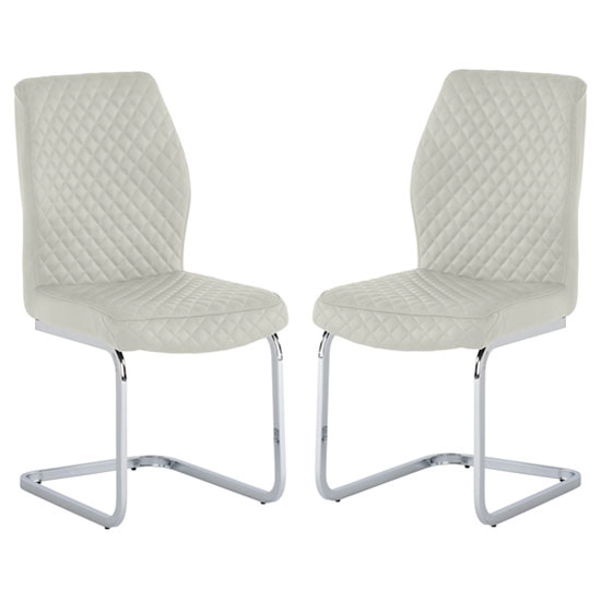 Capri Stone PU Leather Dining Chair In A Pair