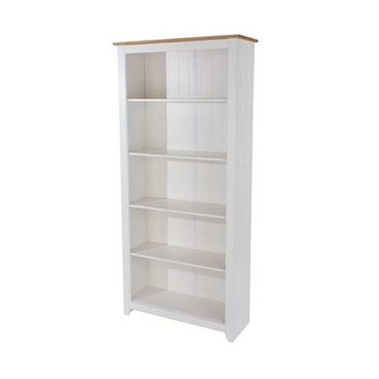Product photograph showing Capri Tall Bookcase With One Fixed And Three Adjustable Shelves