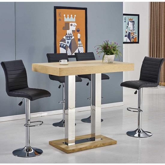 Breakfast Bar Set Stools Table Kitchen Dining Furniture