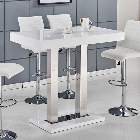 Bathroom storage cabinets - Home Catalog Bar Stools Bar Tables Caprice Bar Table In White High