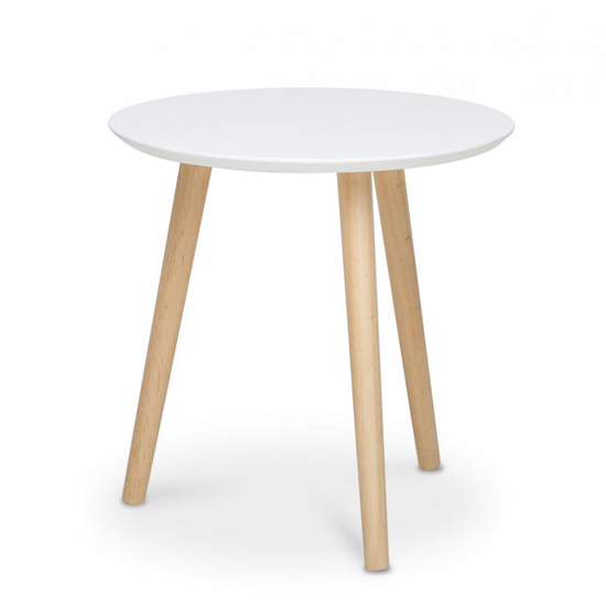 Capricornus Large Wooden Side Table In White And Pine_2