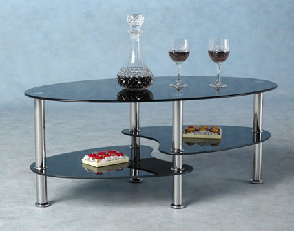 Harveys Coffee Table In Black Glass