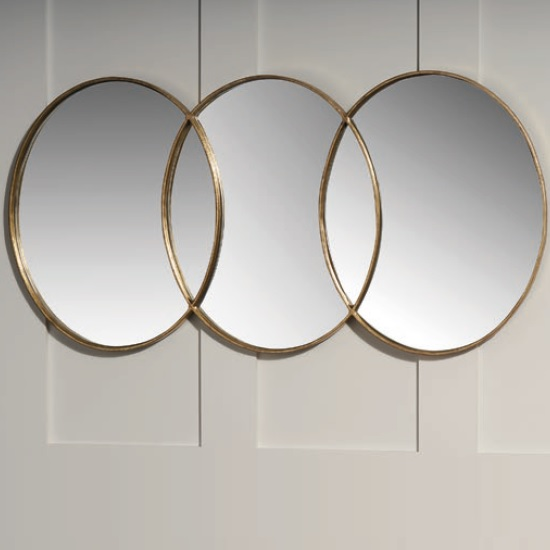Carden Decorative Wall Mirror Round In Gold