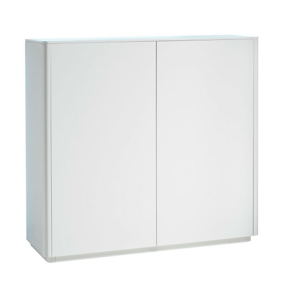 Cardinal Contemporary Compact Sideboard In Matt White With LED