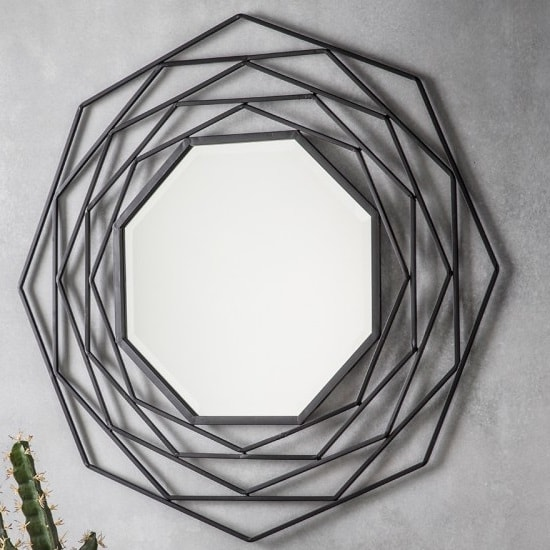 Cargan Metallic Wall Mirror In Black