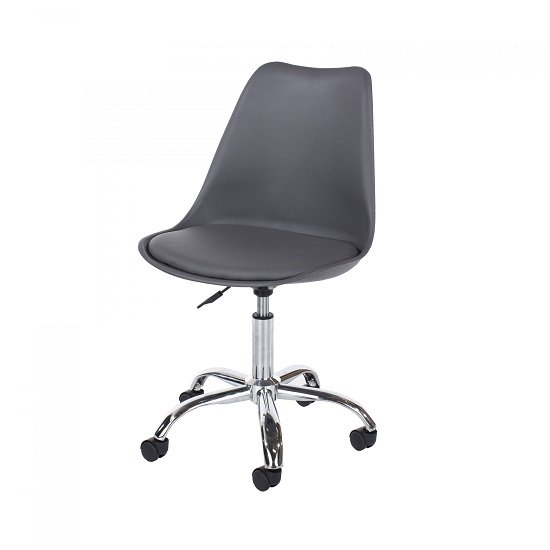 Cargo Office Chair In Dark Grey With Chrome Base